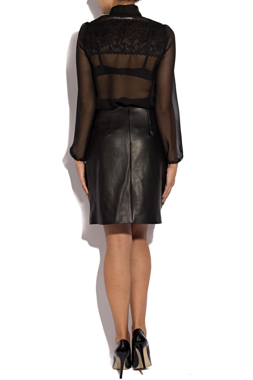 Leather skirt with zipper Giuka by Nicolaescu Georgiana  image 2