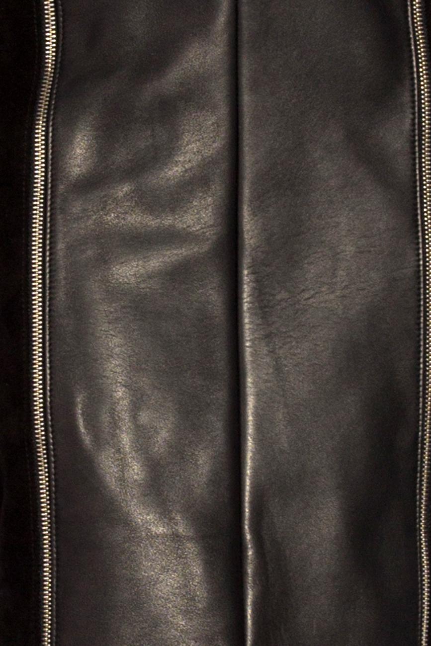 Leather skirt with zipper Giuka by Nicolaescu Georgiana  image 3