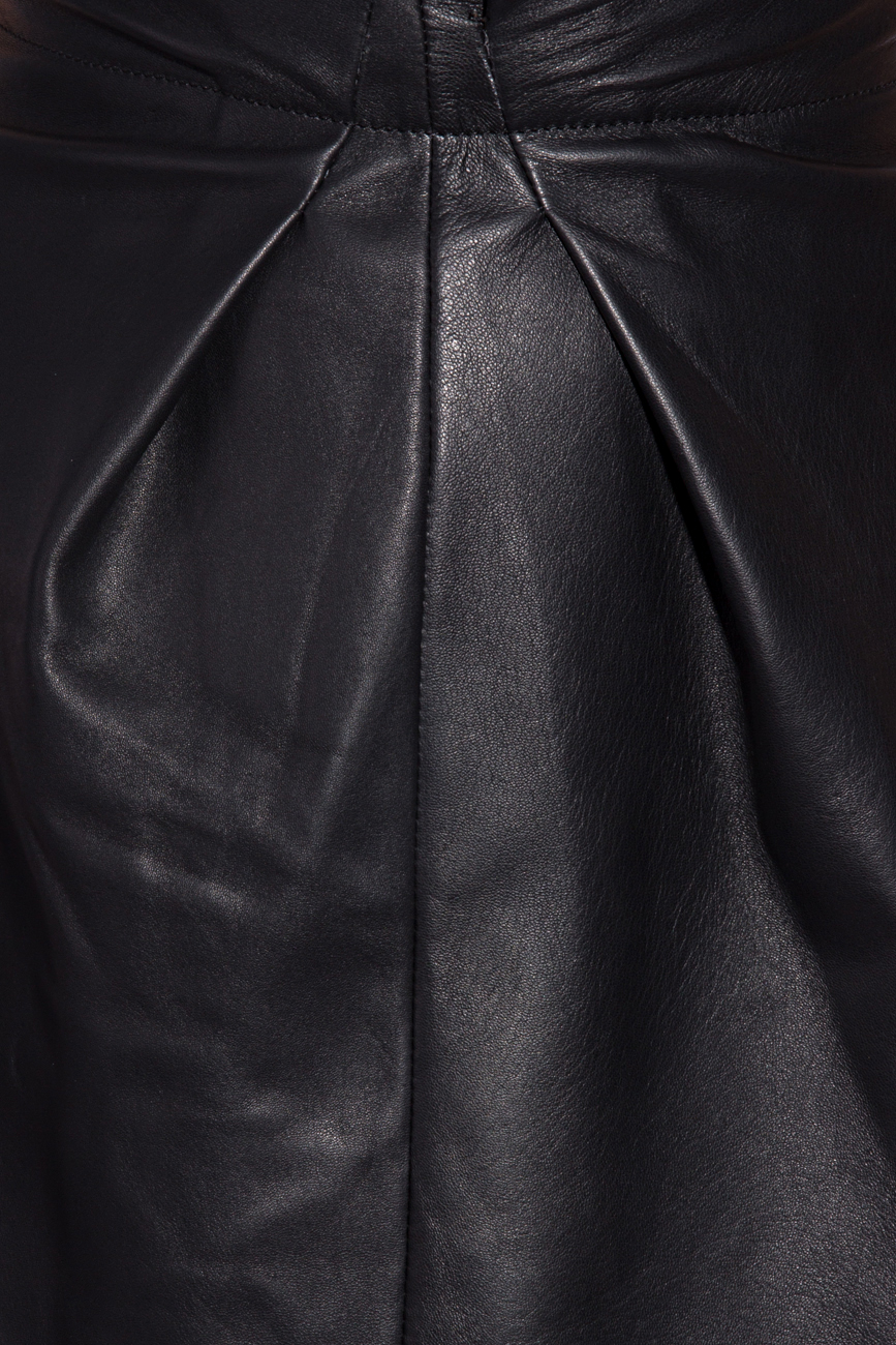 Leather skirt with pleats Giuka by Nicolaescu Georgiana  image 3