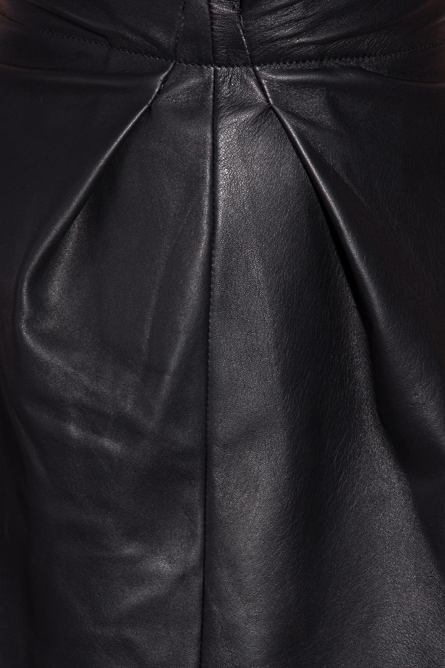 Leather skirt with pleats Giuka by Nicolaescu Georgiana  image 3