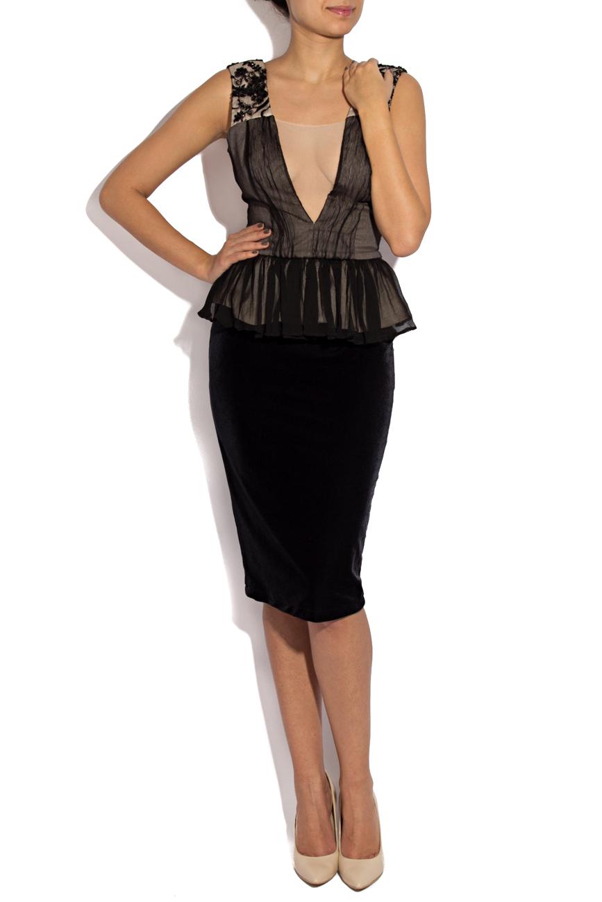 Silk and velvet deux-piece  Claudia Greta image 0