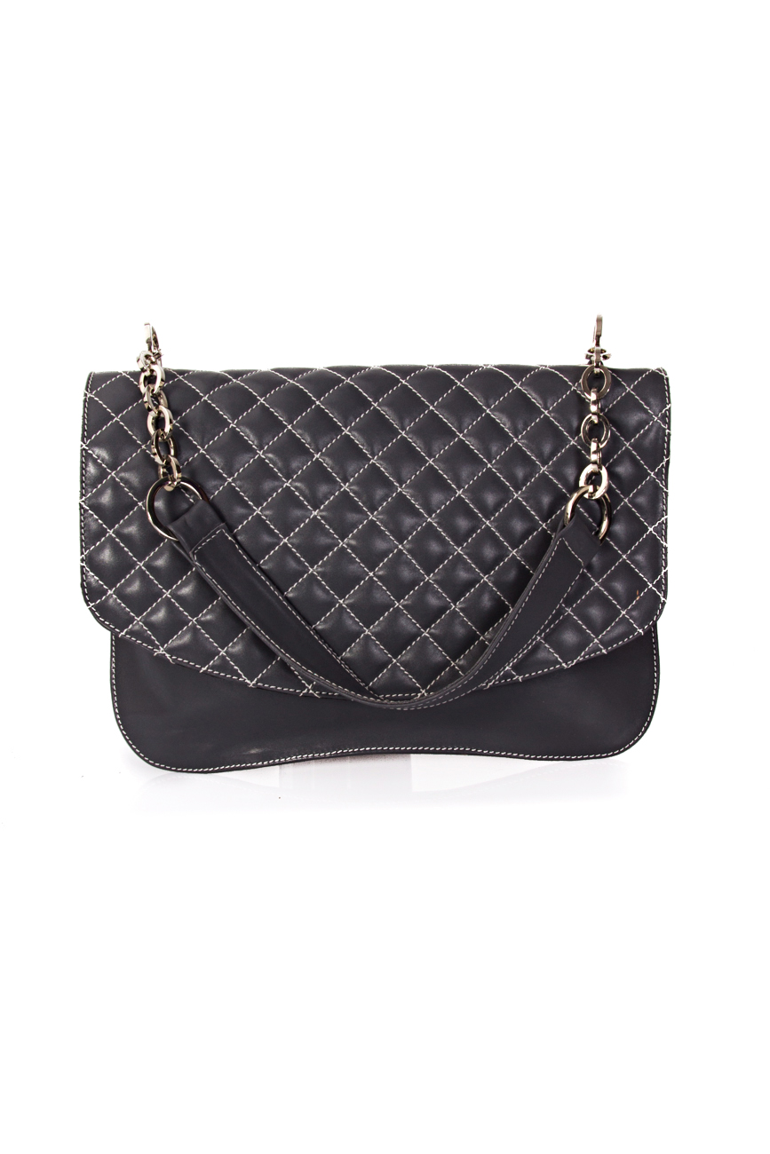 Gray quilted bag Giuka by Nicolaescu Georgiana  image 1