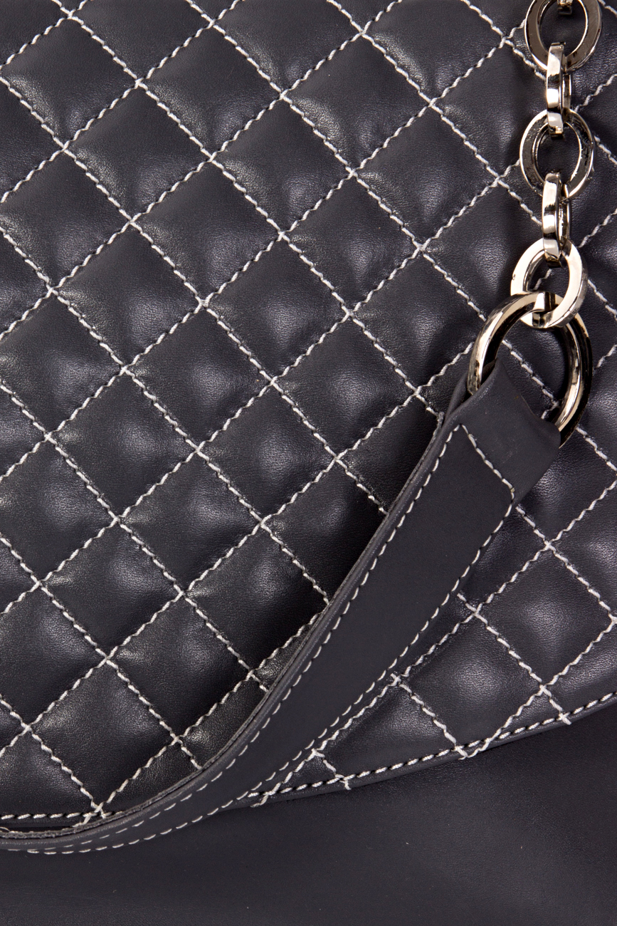 Gray quilted bag Giuka by Nicolaescu Georgiana  image 4