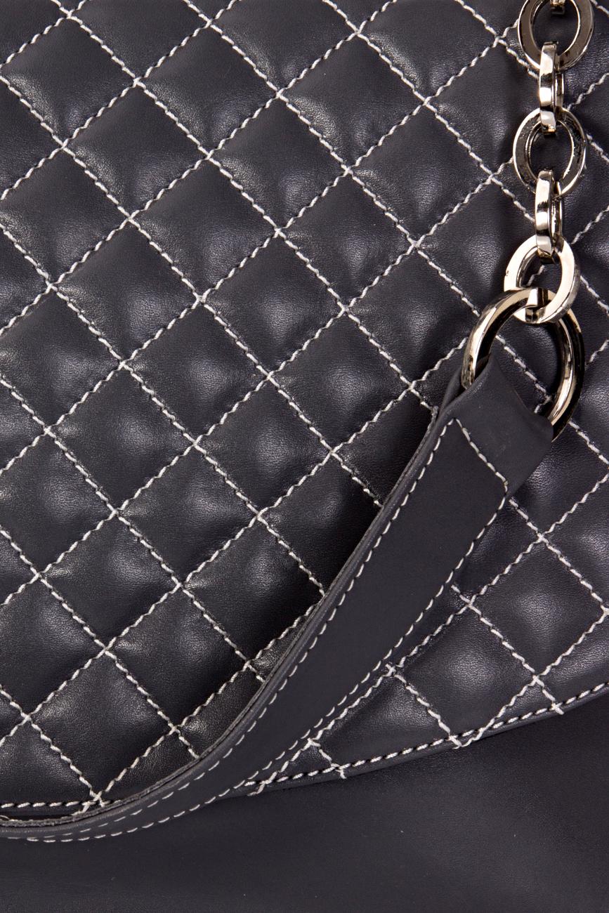 Gray quilted bag Giuka by Nicolaescu Georgiana  image 4