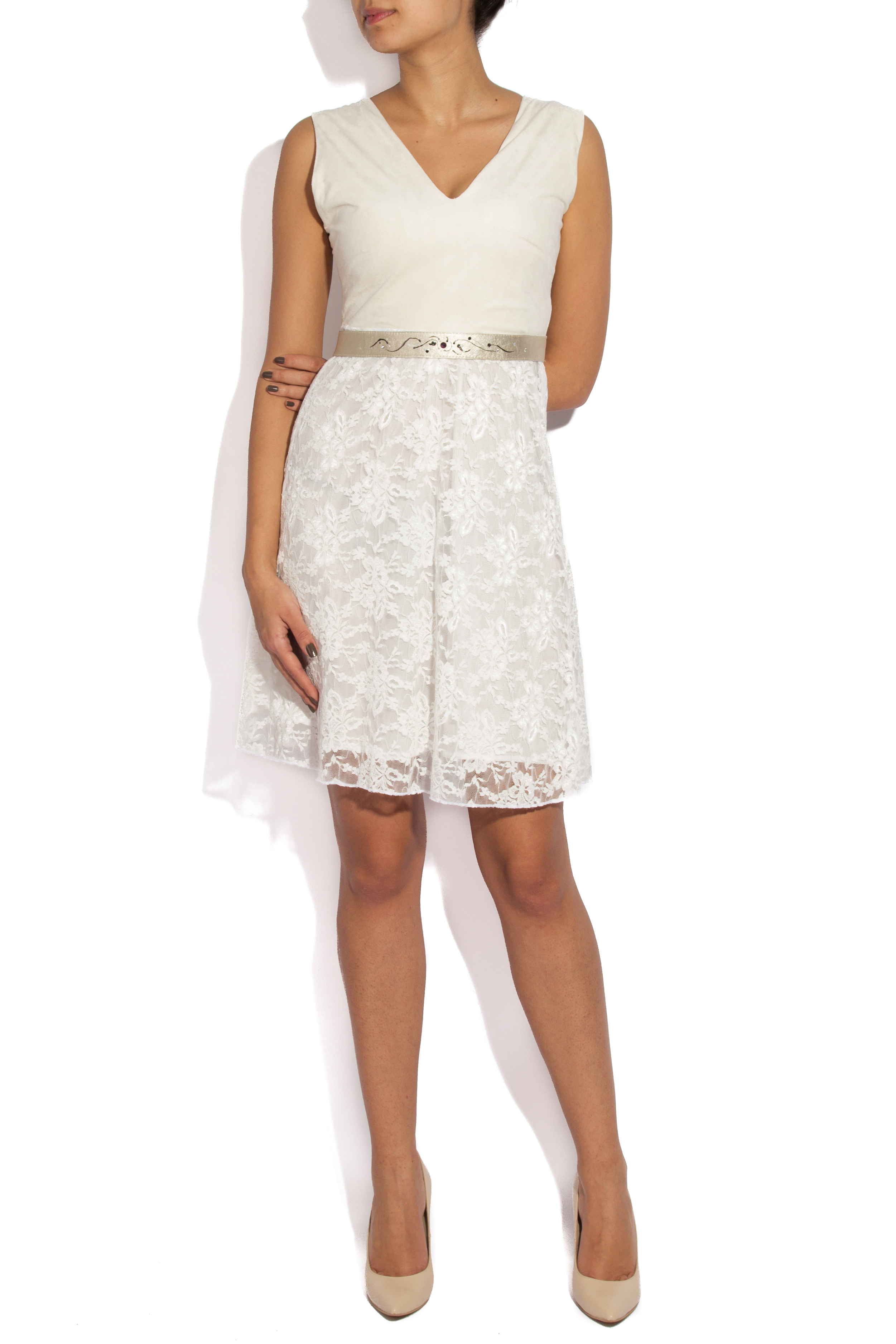 White lace and velvet dress B.A.D. Style by Adriana Barar image 0