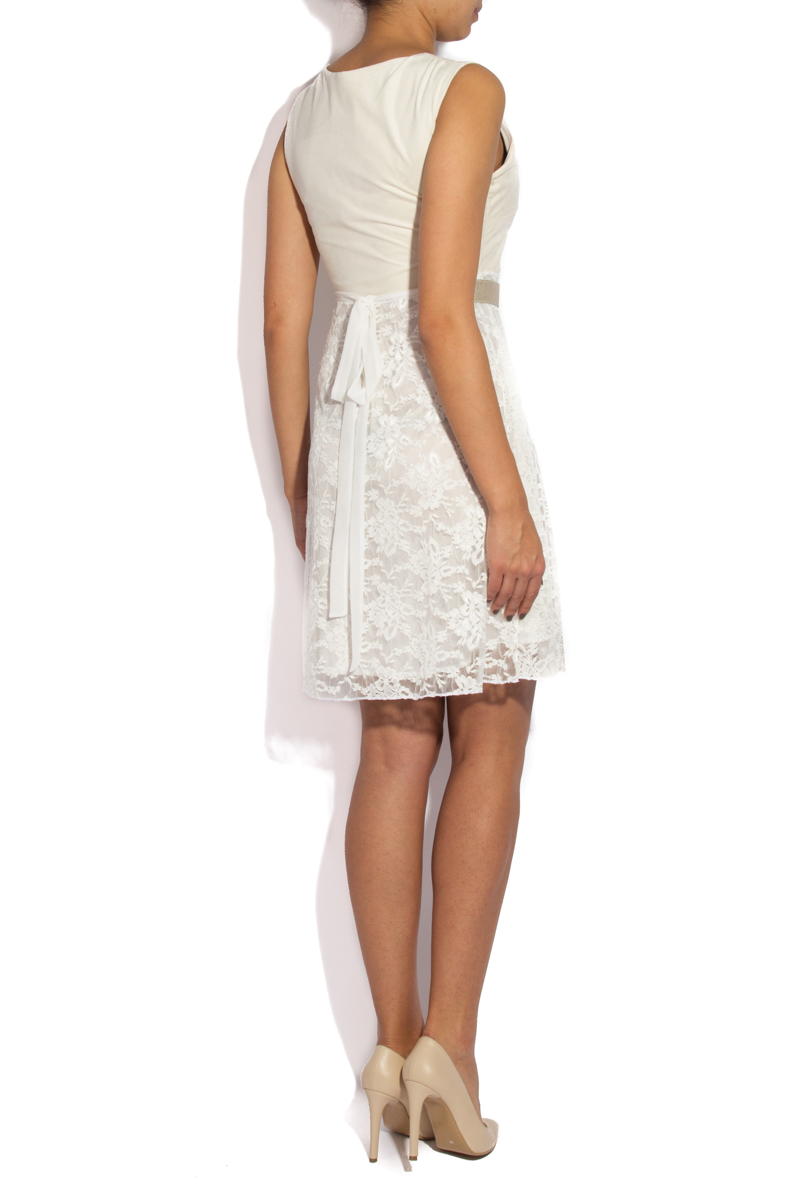 White lace and velvet dress B.A.D. Style by Adriana Barar image 2