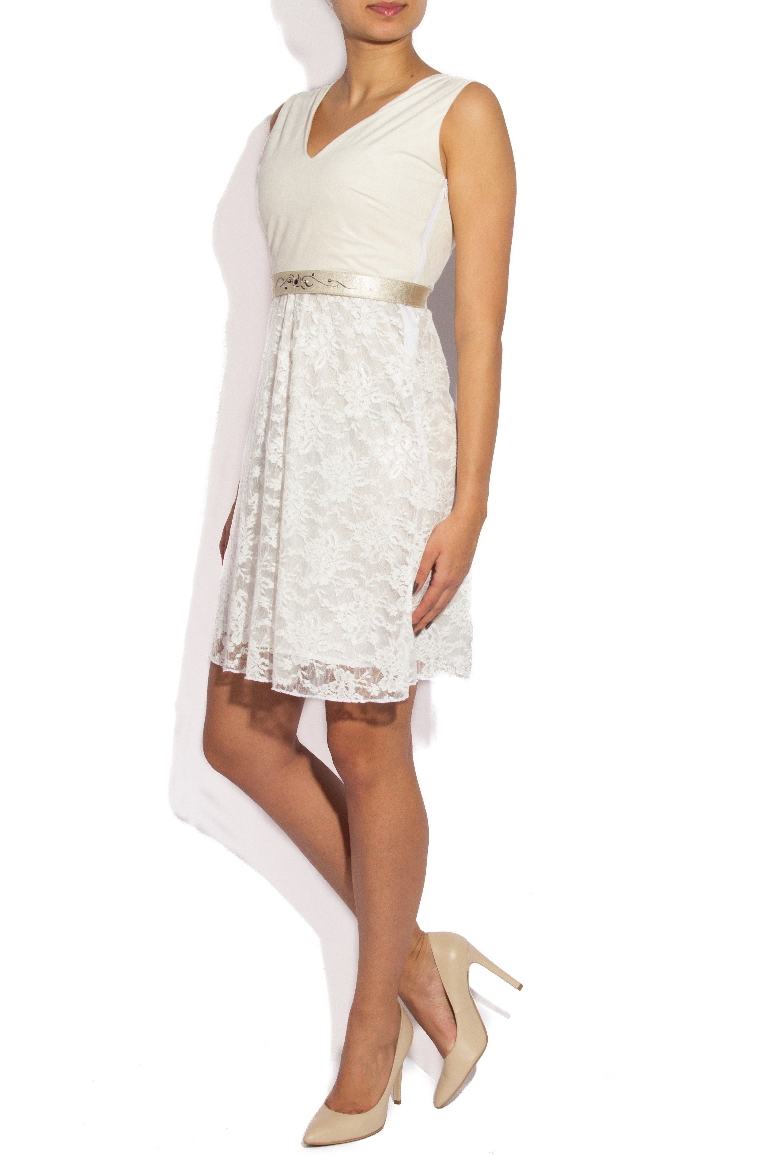 White lace and velvet dress B.A.D. Style by Adriana Barar image 1