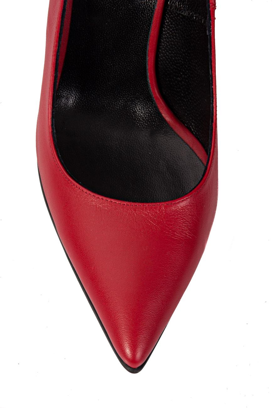 Escarpins rouges à découpes Mihaela Glavan  image 3
