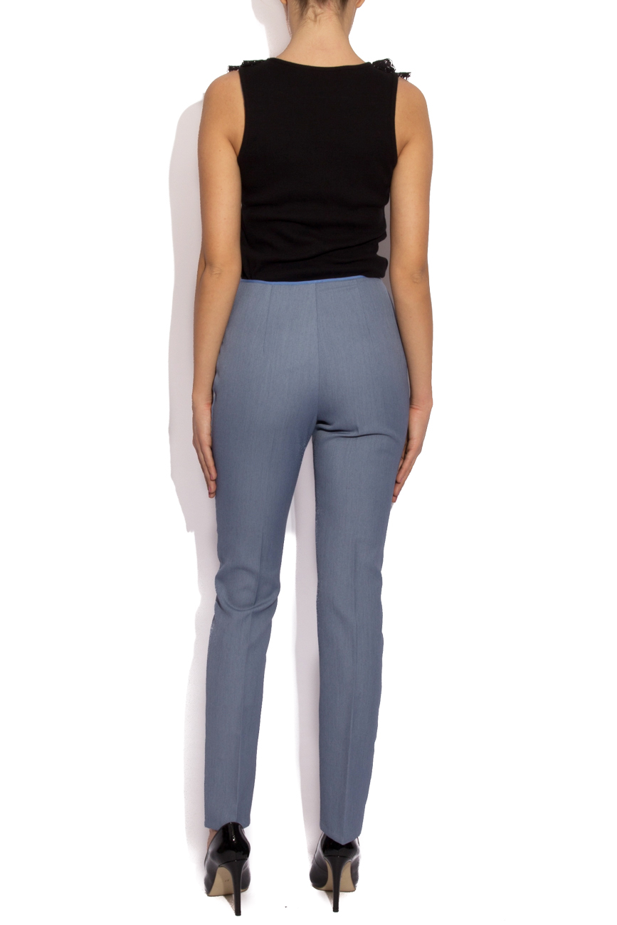 Blue pants with lace details Cristina Staicu image 2