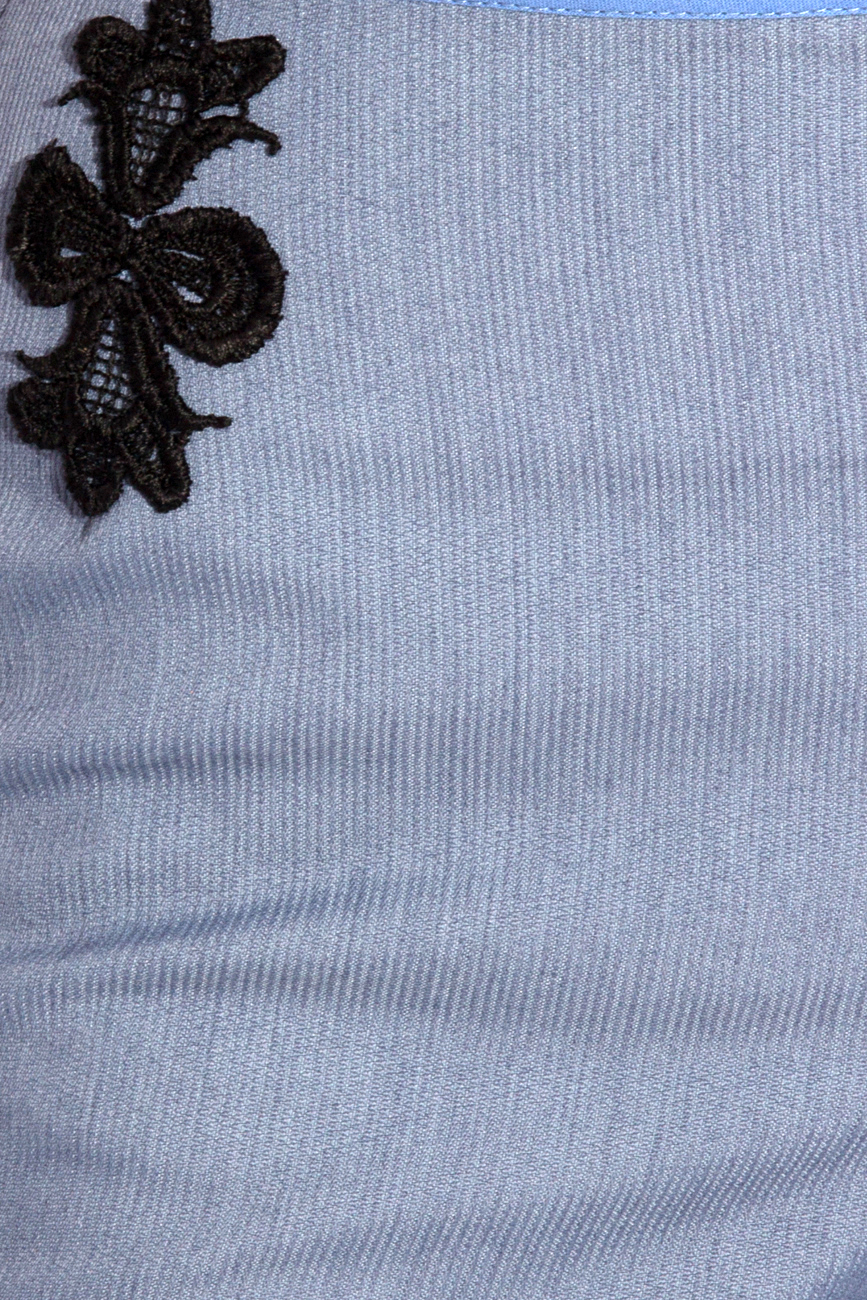 Blue pants with lace details Cristina Staicu image 3