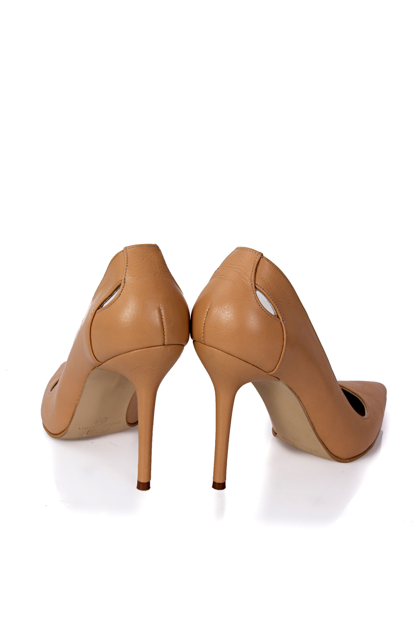 Cut out beige shoes Mihaela Glavan  image 2