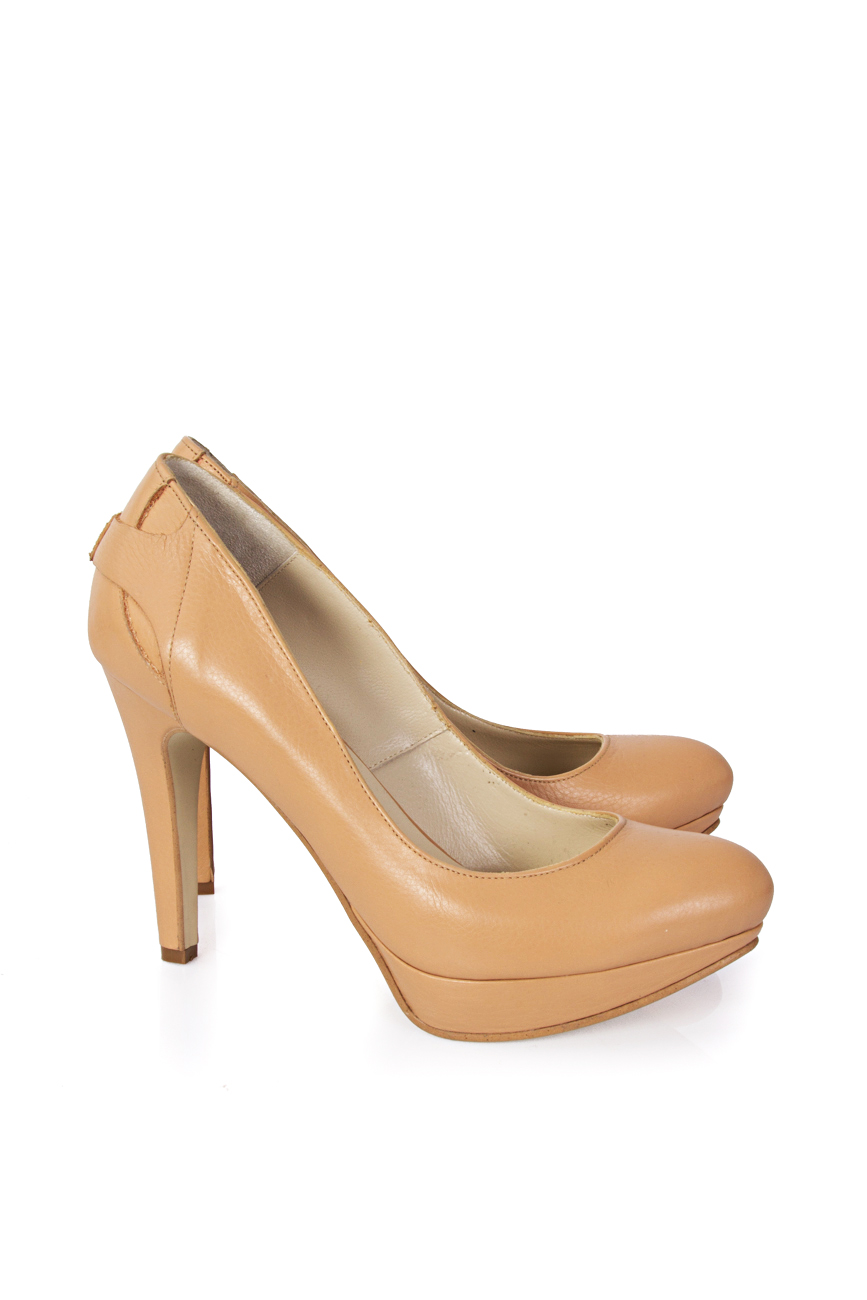 Beige shoes with platform Mihaela Glavan  image 0