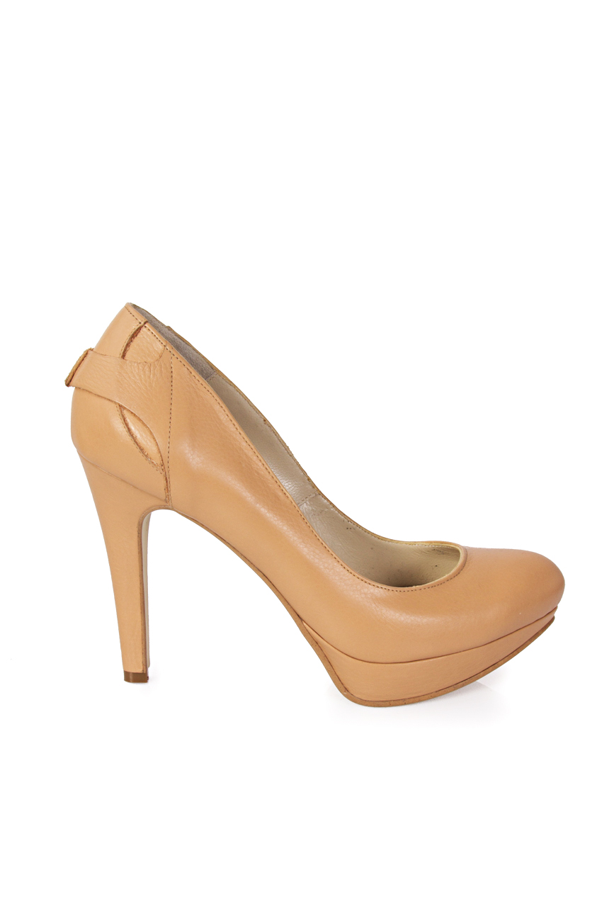 Beige shoes with platform Mihaela Glavan  image 1
