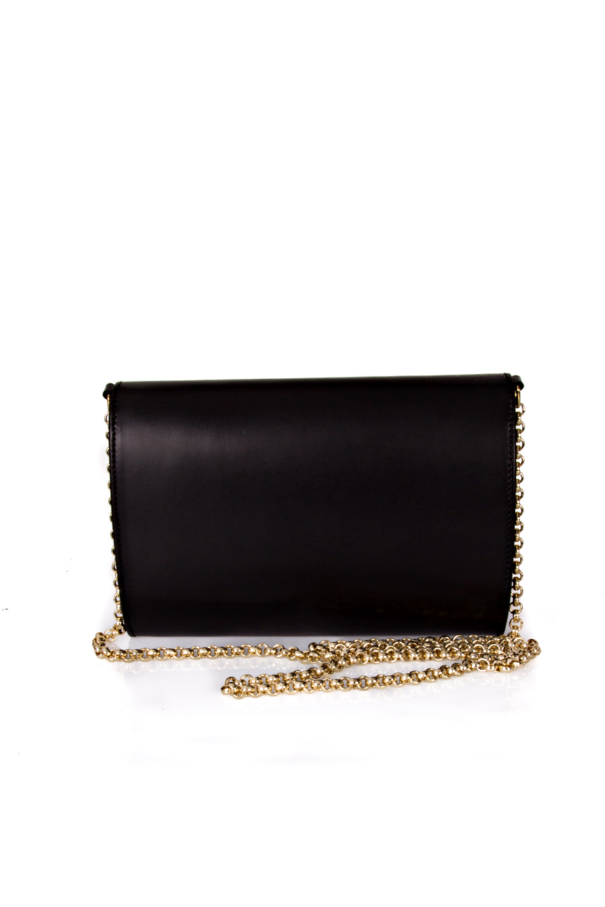 Black clutch with golden chain Giuka by Nicolaescu Georgiana  image 2