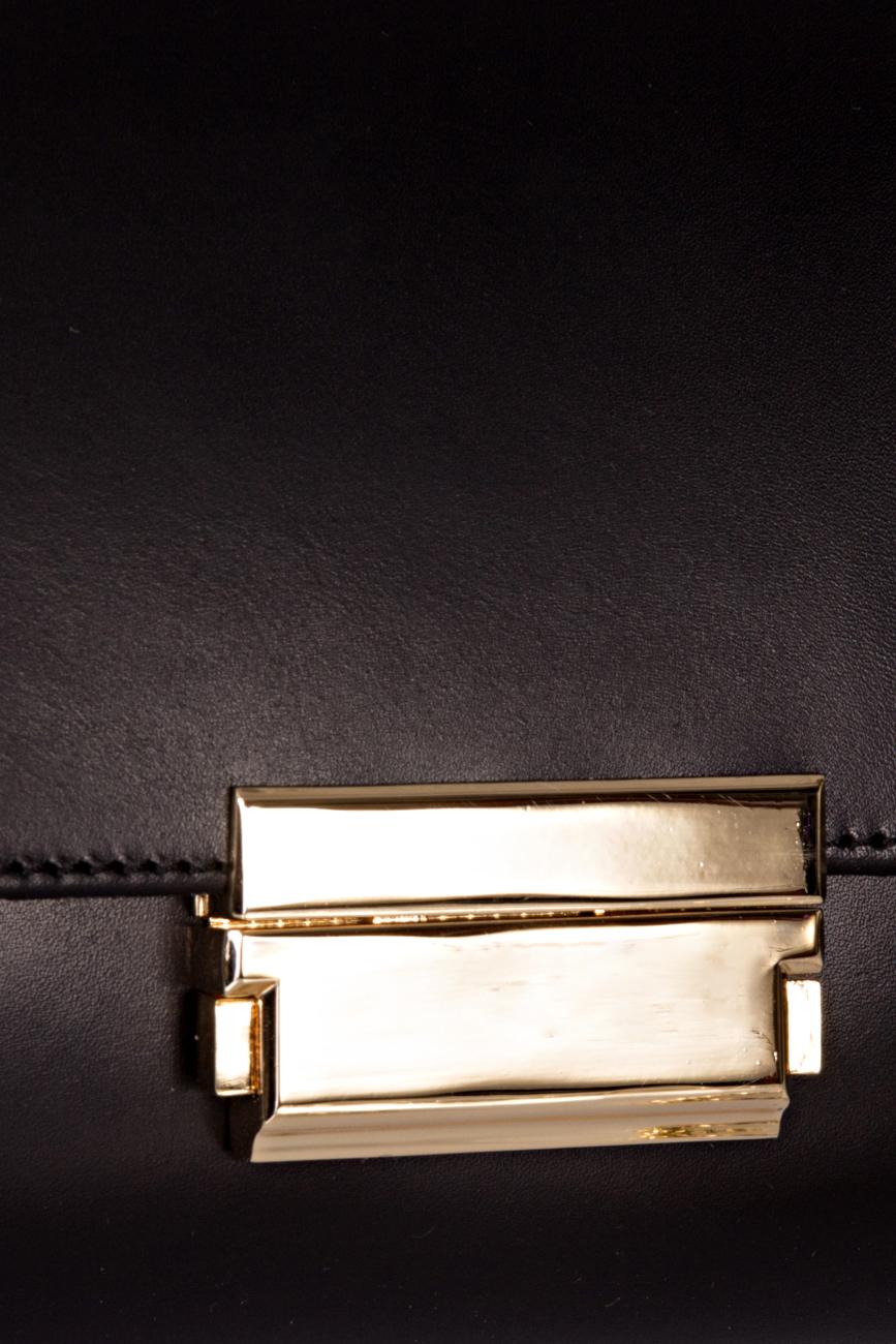Black clutch with golden chain Giuka by Nicolaescu Georgiana  image 3