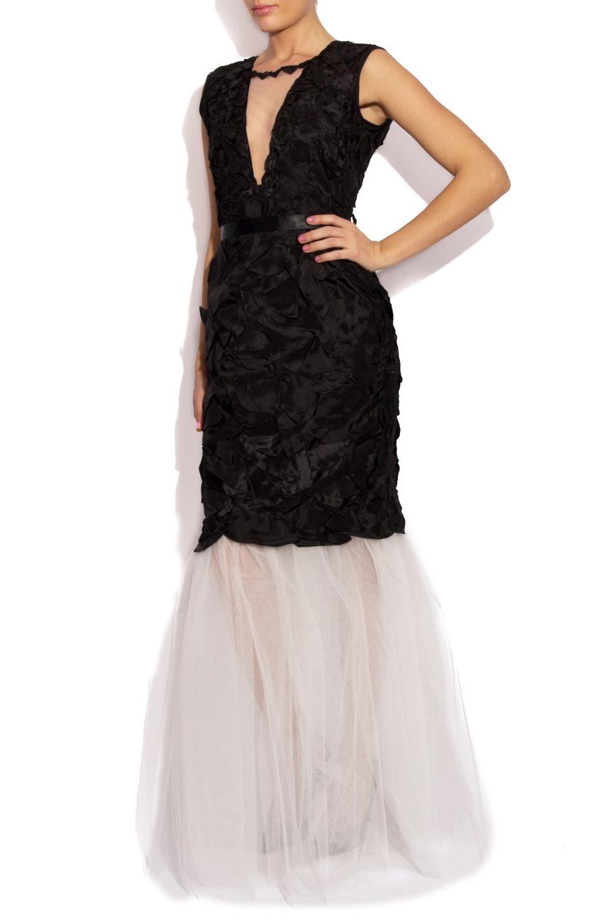 Black dress with petals Cristina Staicu image 1