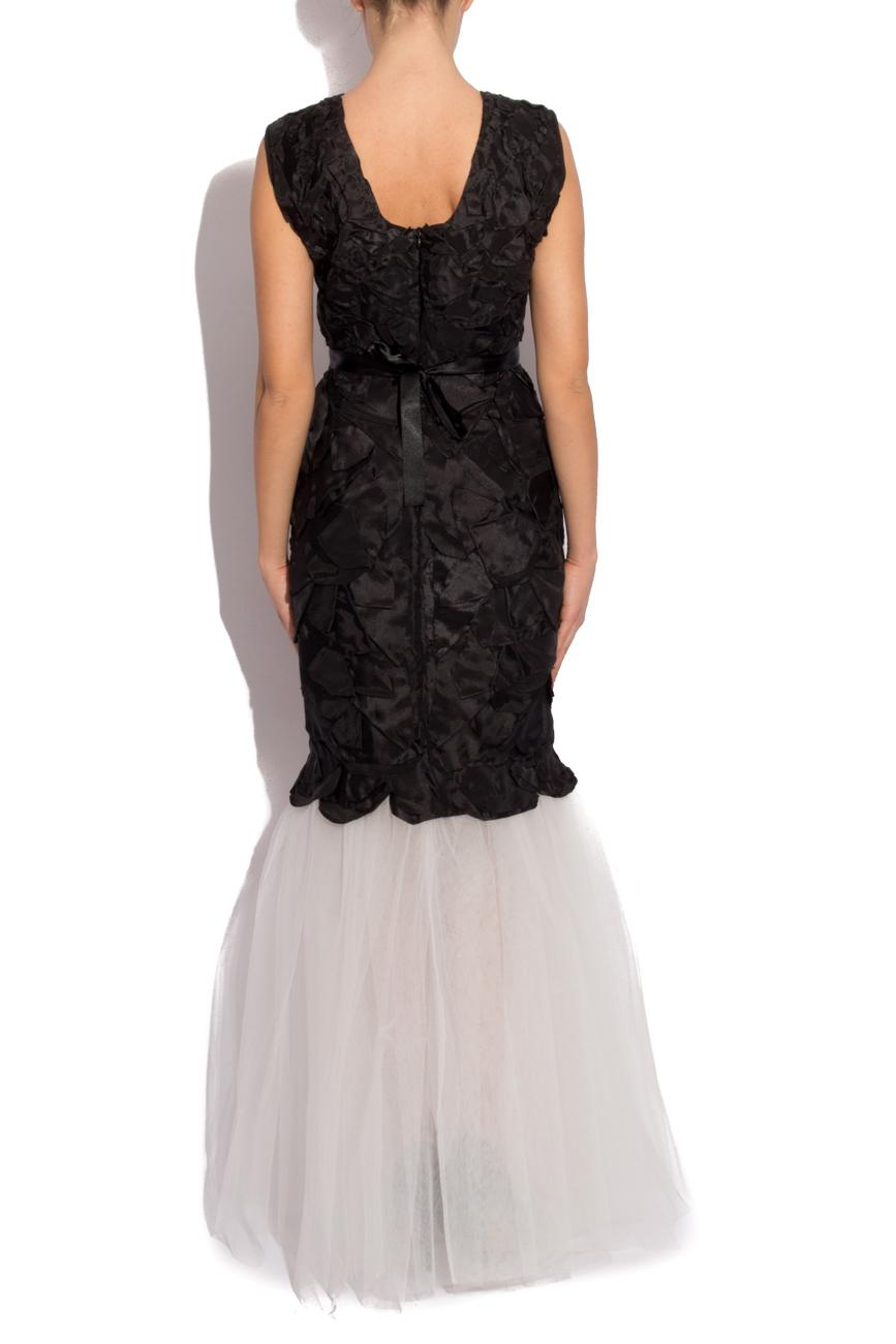Rochie cu petale negre Cristina Staicu imagine 2