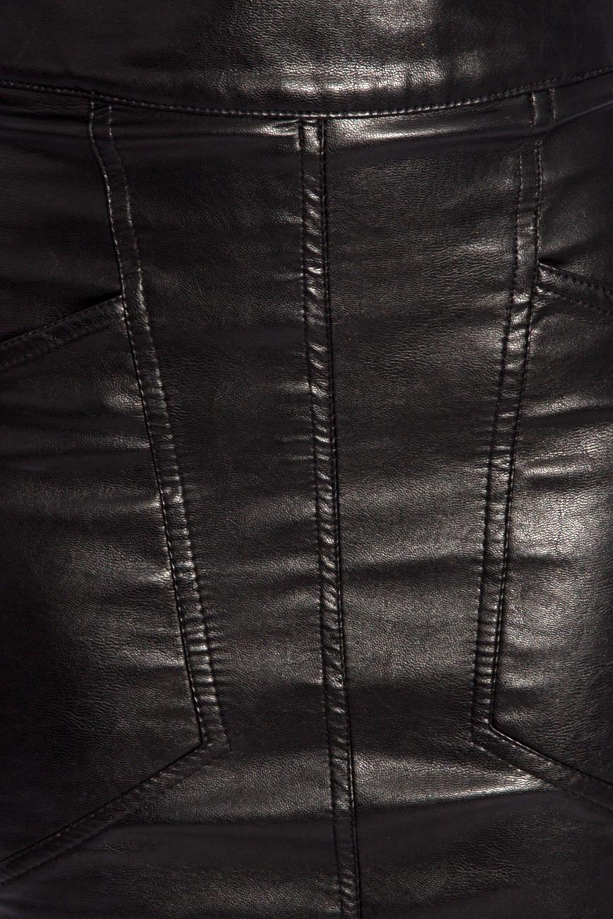 Tapered leather skirt Karmen Herscovici image 3