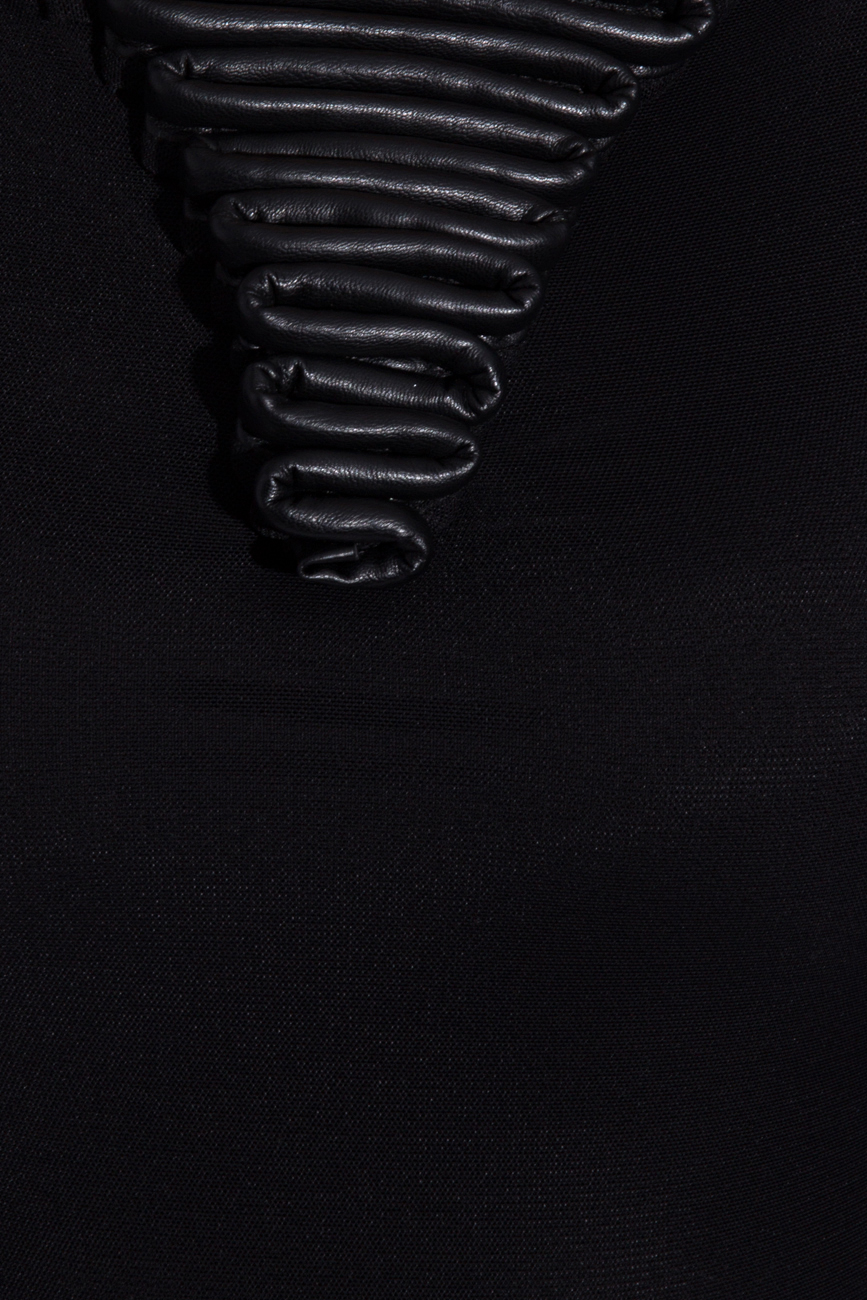 Black body with ecological leather Karmen Herscovici image 3