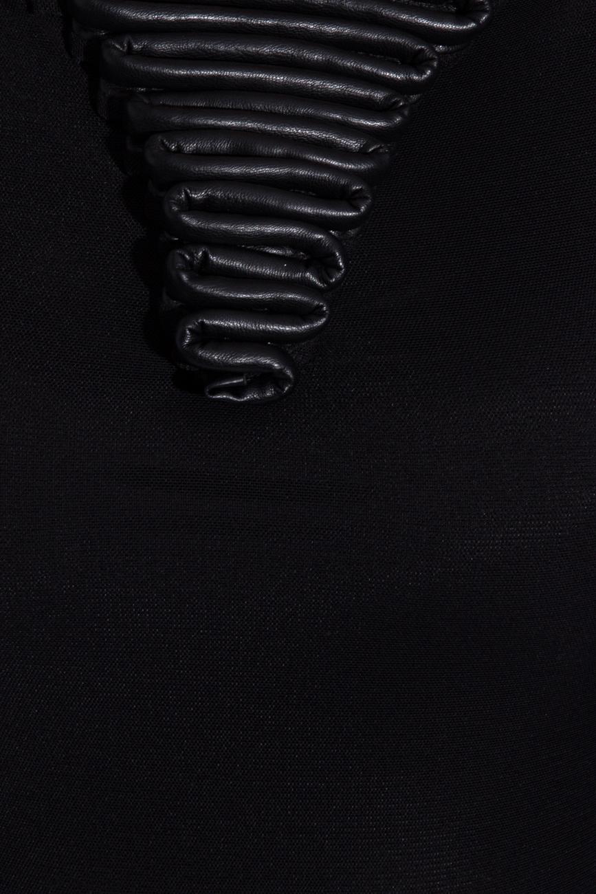 Black body with ecological leather Karmen Herscovici image 3