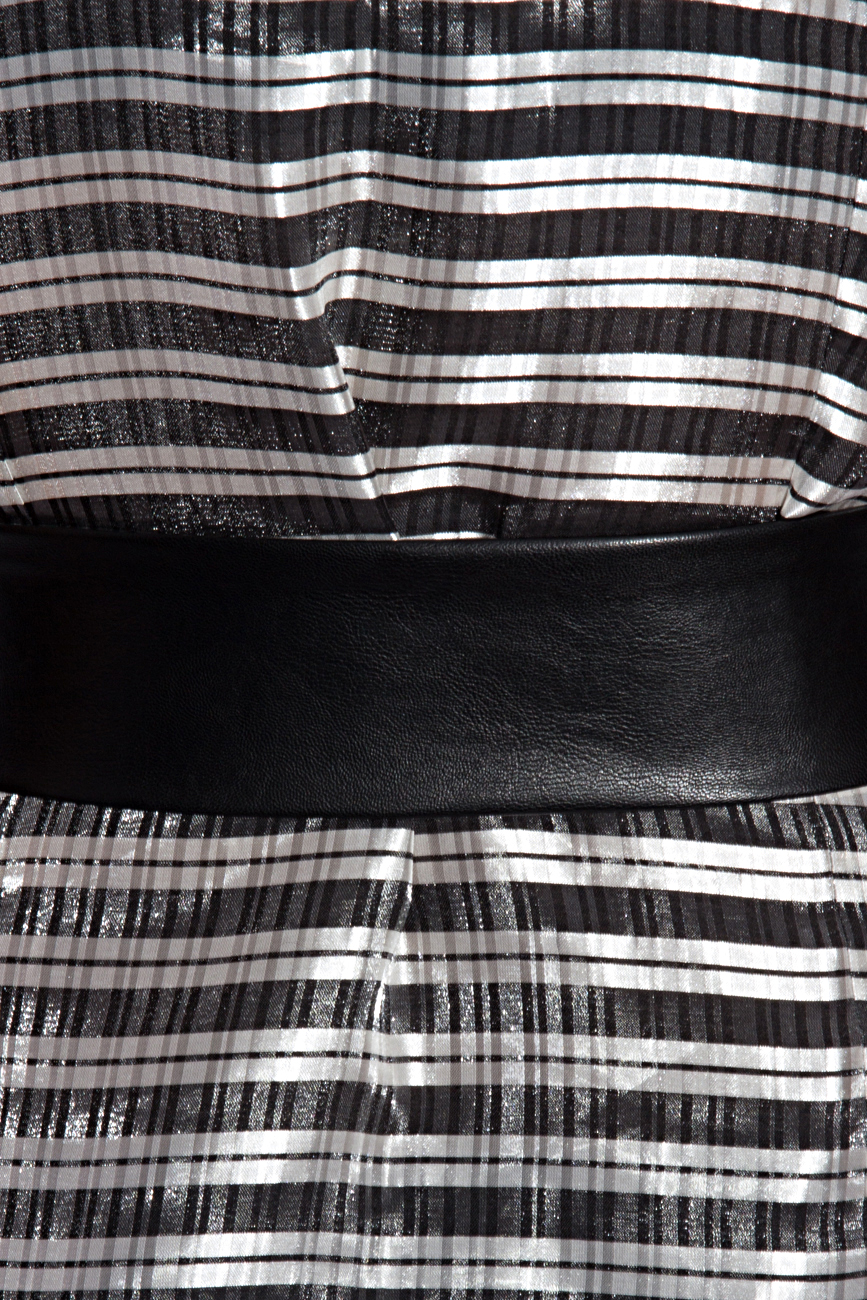Silver blouse with stripes Karmen Herscovici image 3