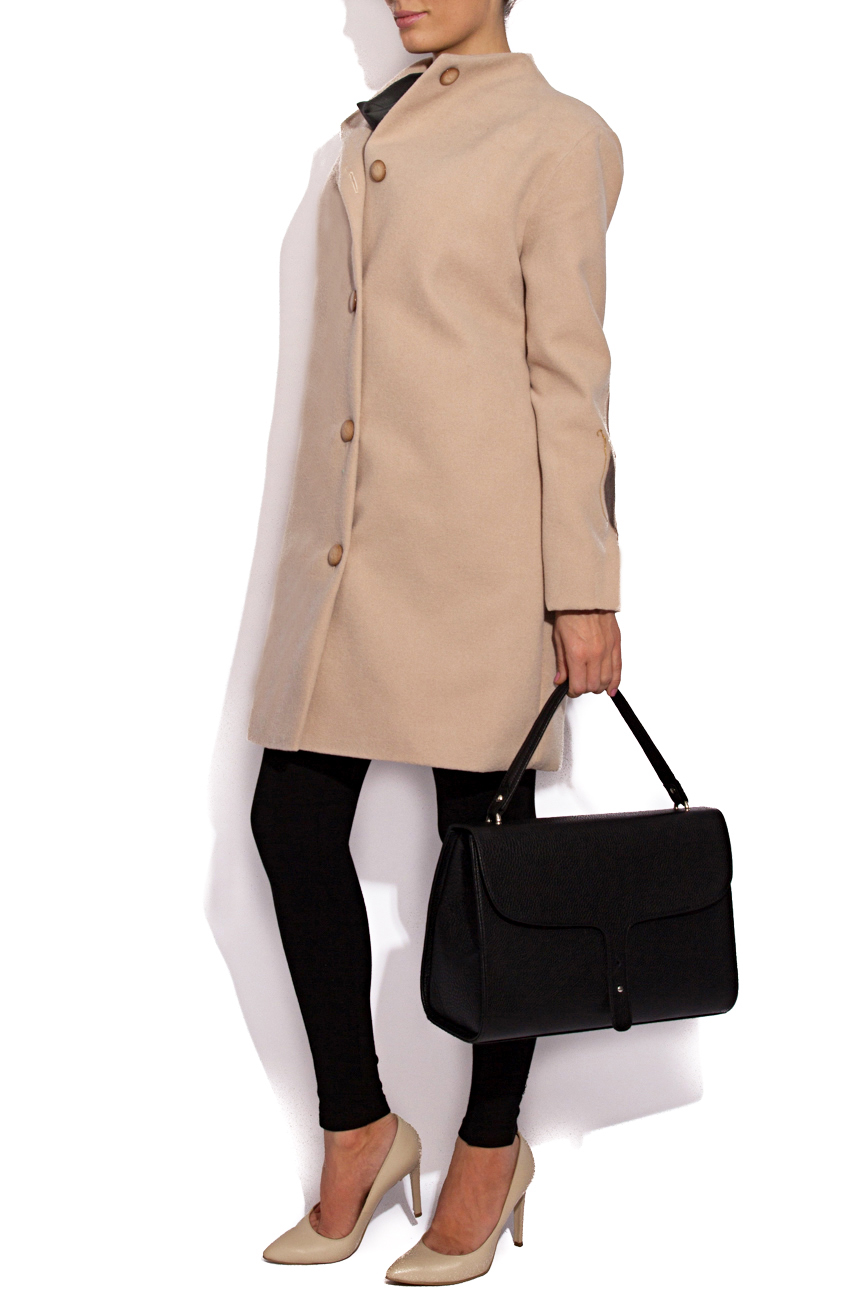 Beige coat with manual painting B.A.D. Style by Adriana Barar image 2