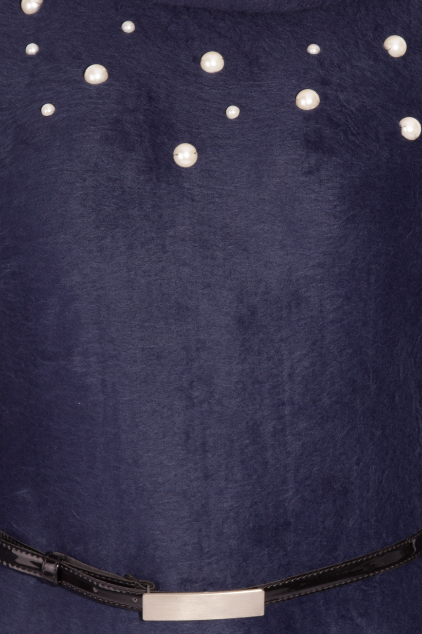 Navy Blue Dress Angora Laura Firefly image 3
