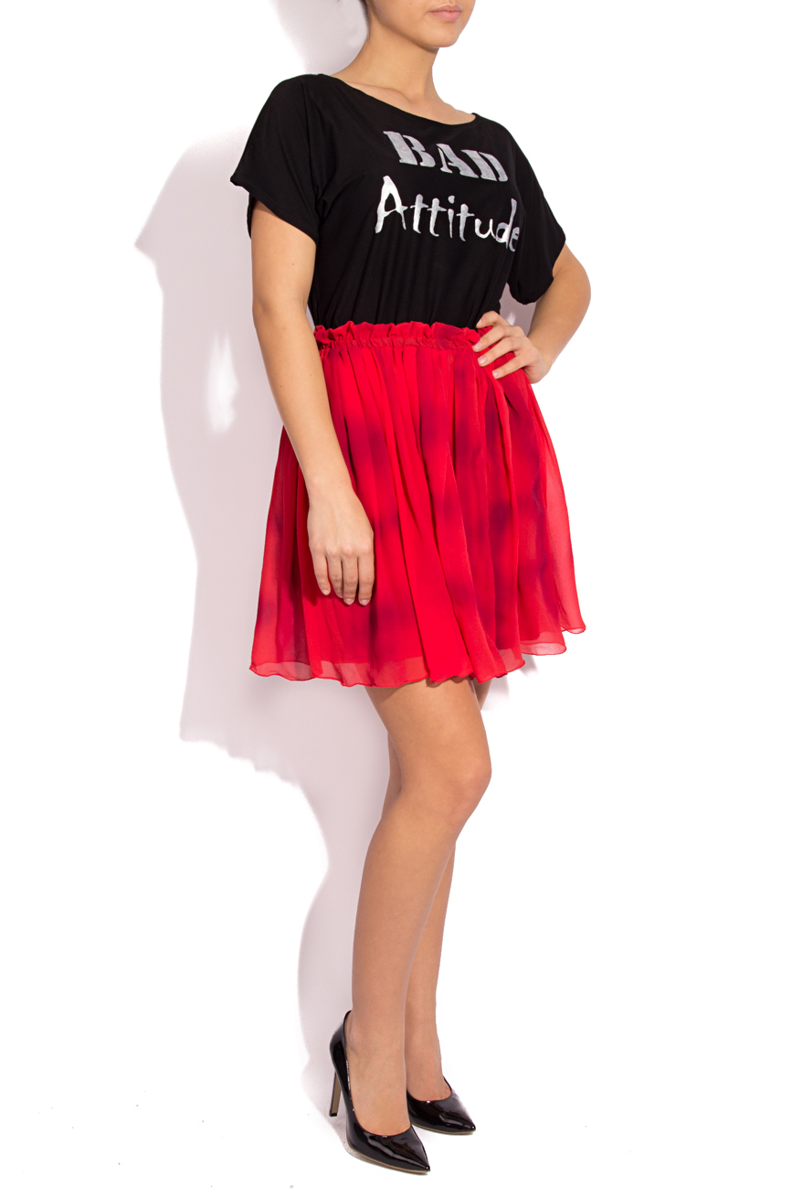 Plaid silk skirt B.A.D. Style by Adriana Barar image 1