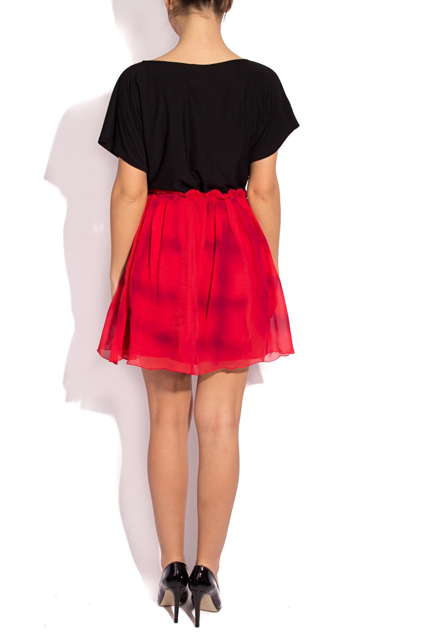 Plaid silk skirt B.A.D. Style by Adriana Barar image 2