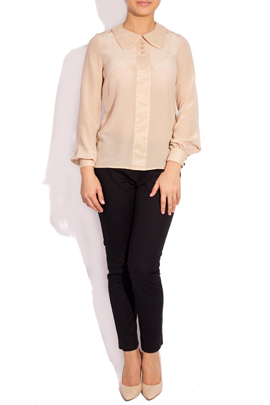 Silk and lace blouse T'esha by Diana Tatucu image 0