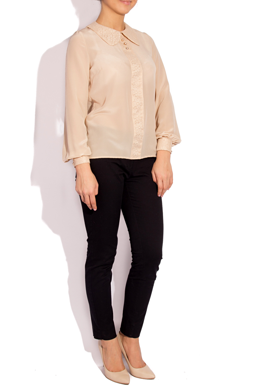 Silk and lace blouse T'esha by Diana Tatucu image 1