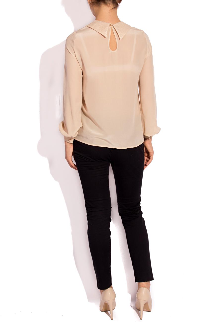 Silk and lace blouse T'esha by Diana Tatucu image 2