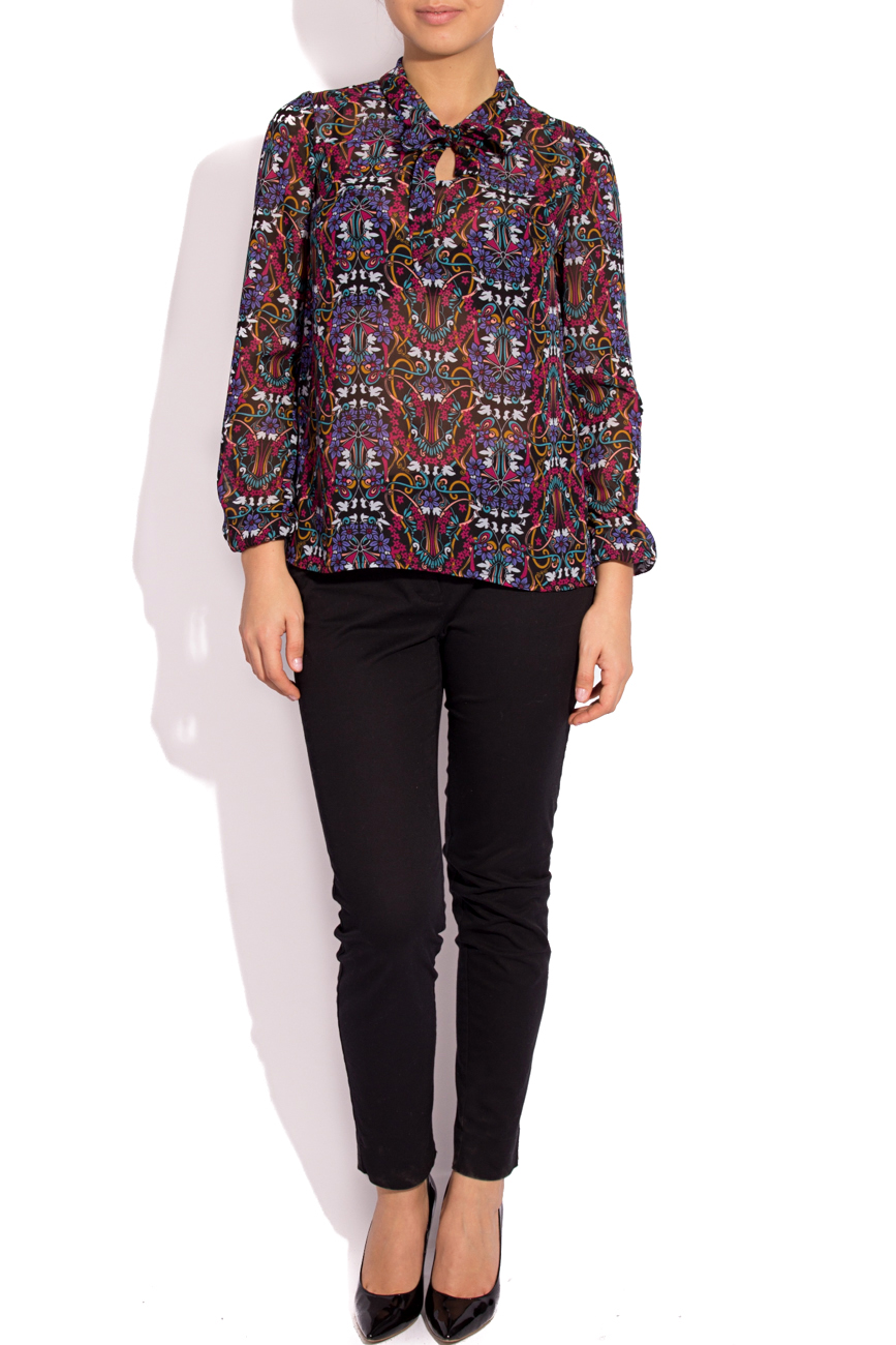 Blouse with type-collar scarf Cristina Staicu image 0