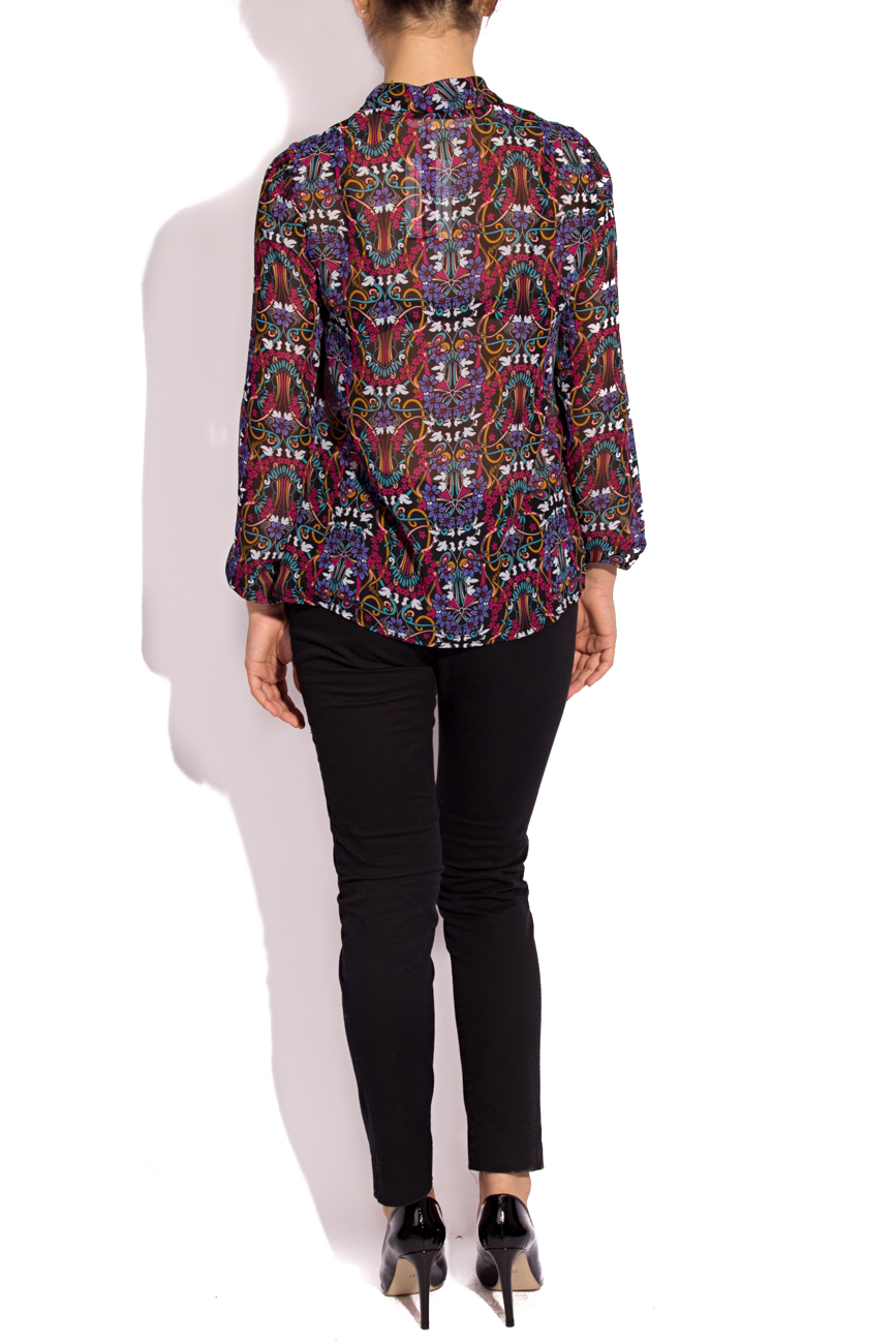 Blouse with type-collar scarf Cristina Staicu image 2