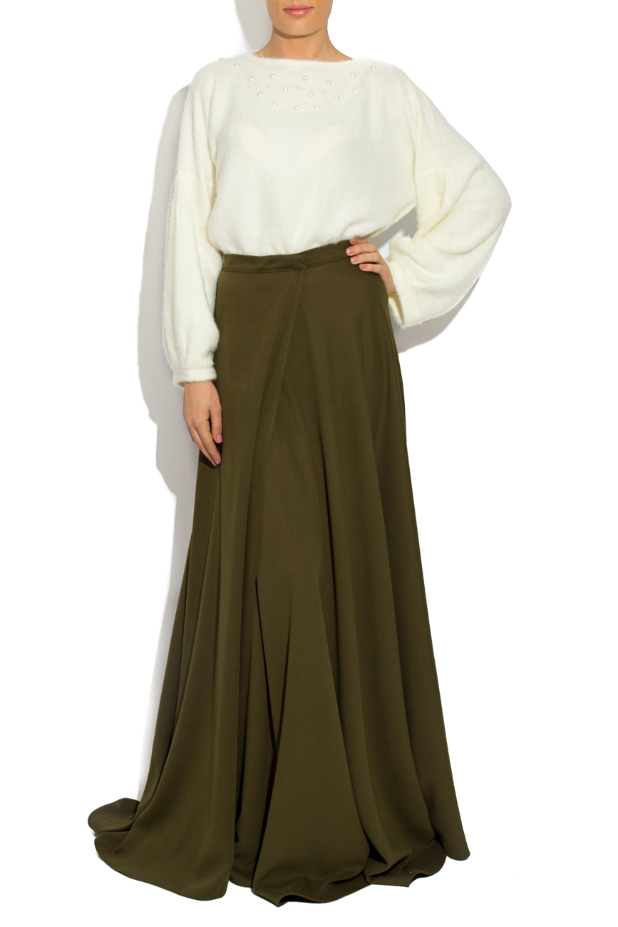 Green skirt with overlapping sides Laura Firefly image 0