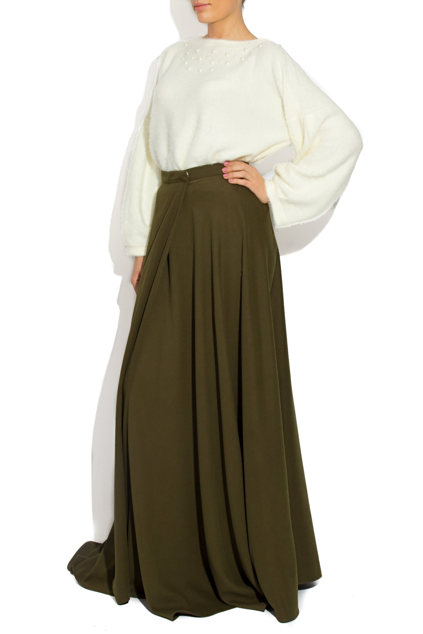 Green skirt with overlapping sides Laura Firefly image 1