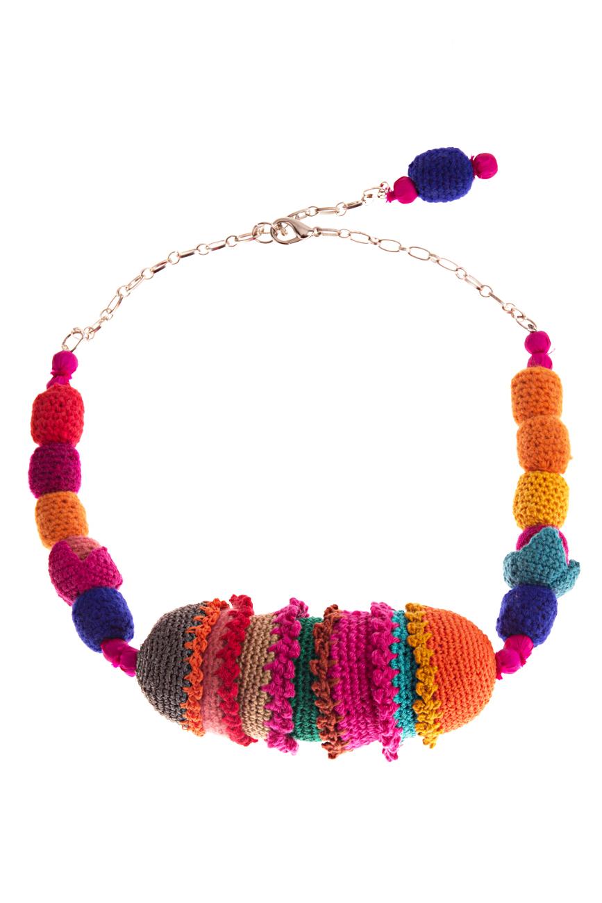 Multicolored necklace 1 Gabriela Urda image 0