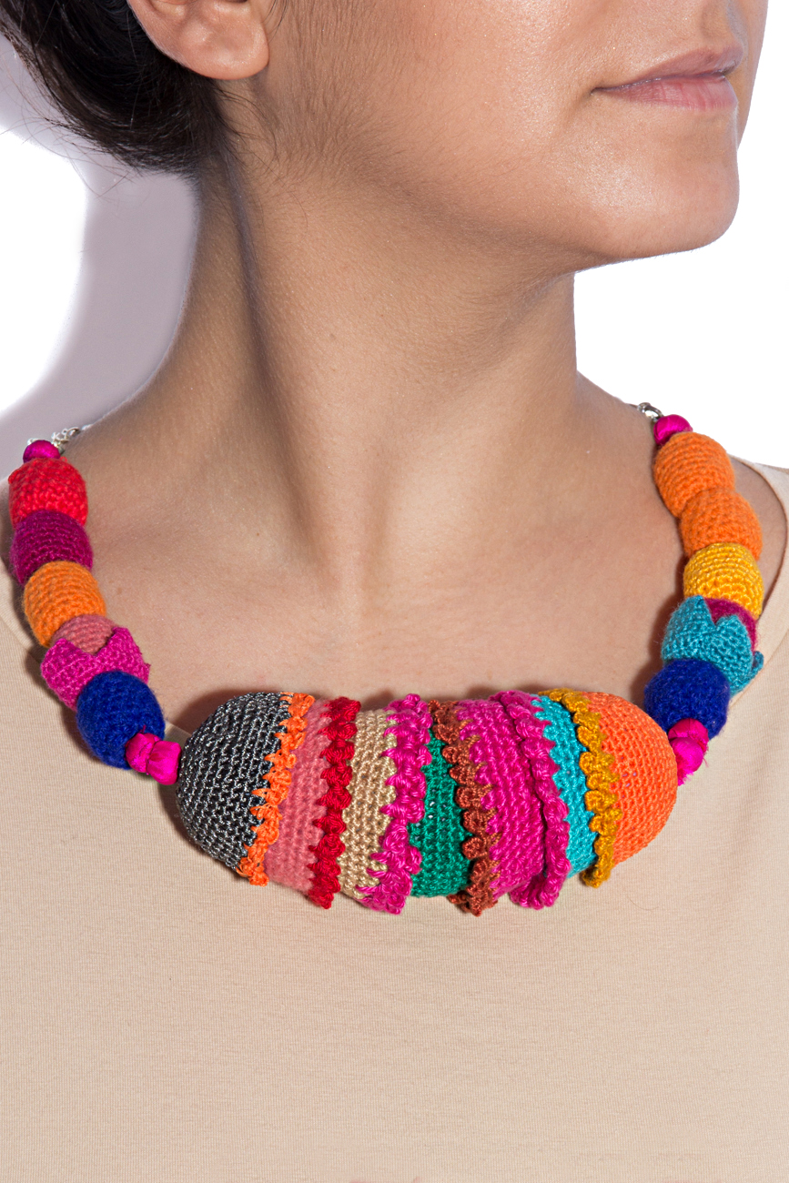 Multicolored necklace 1 Gabriela Urda image 2