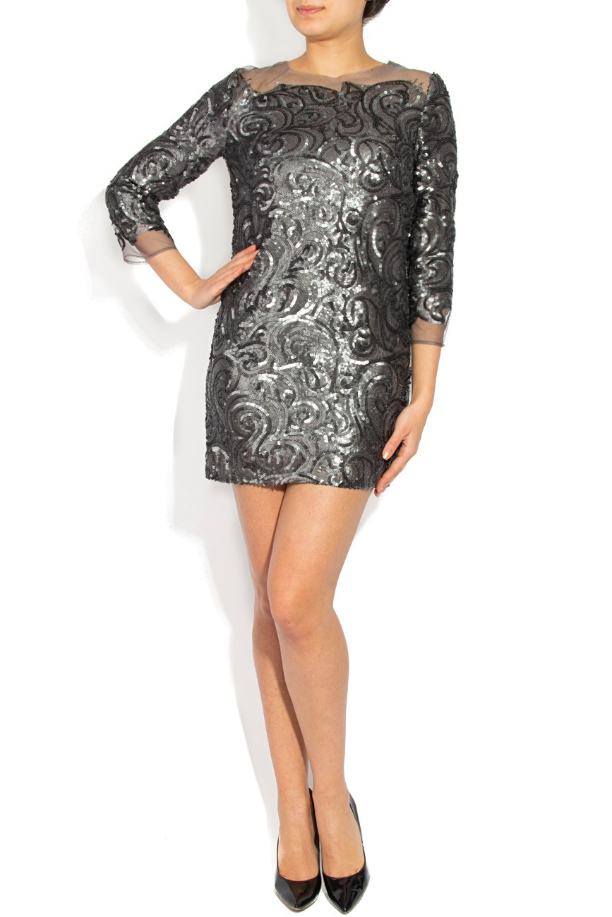 Gray sequined dress Cristina Staicu image 0