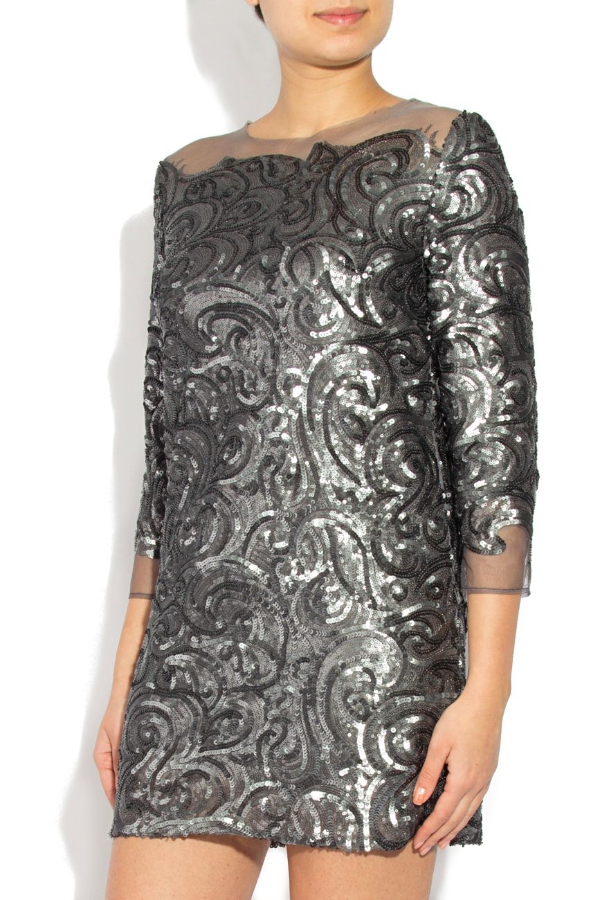Gray sequined dress Cristina Staicu image 1