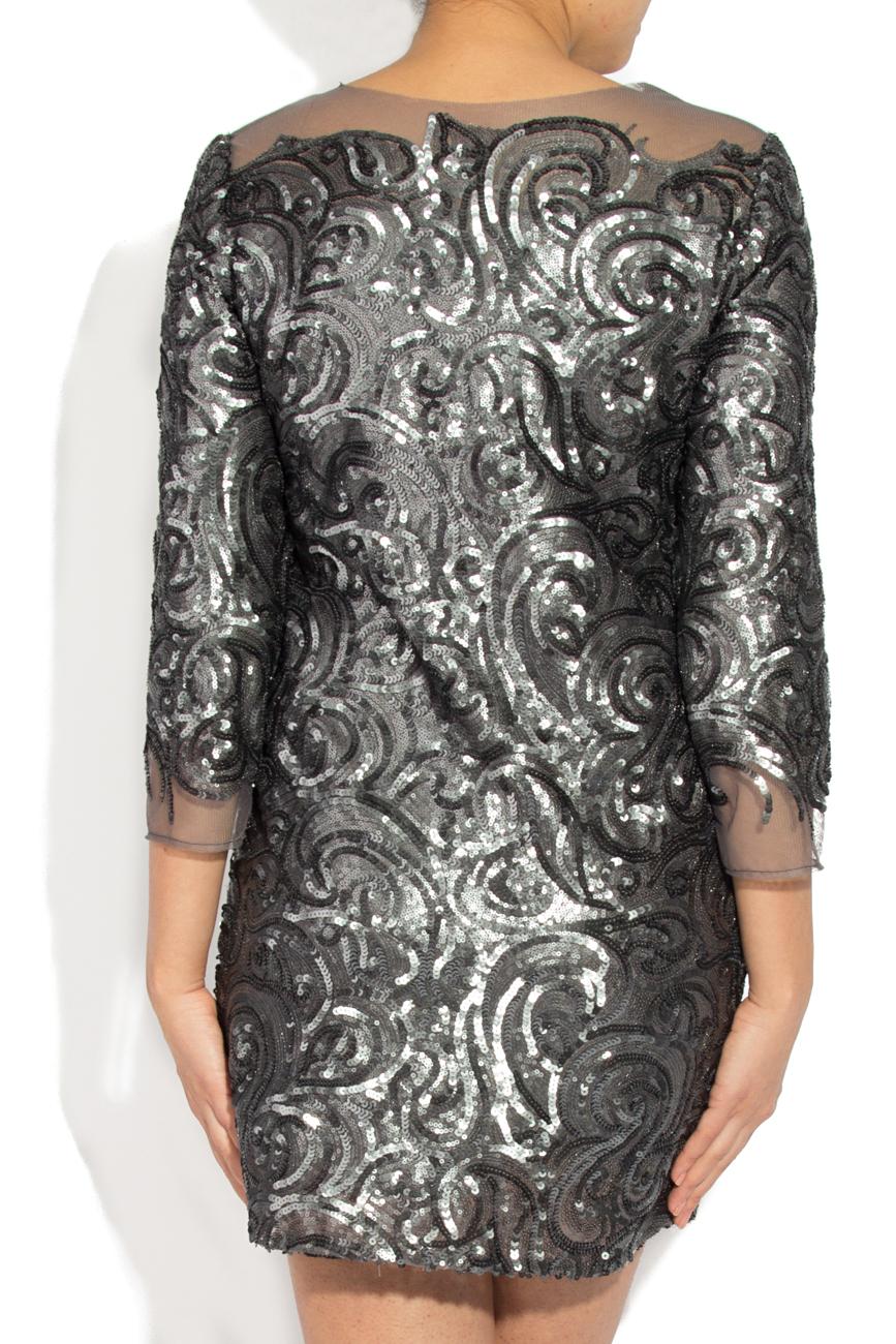 Gray sequined dress Cristina Staicu image 2