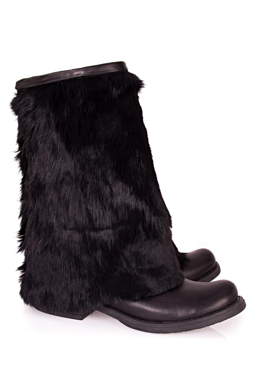 Rabbit fur boots Ana Kaloni image 0