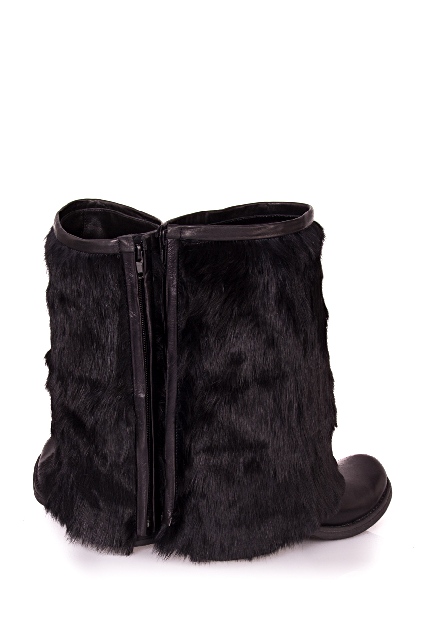 Rabbit fur boots Ana Kaloni image 1