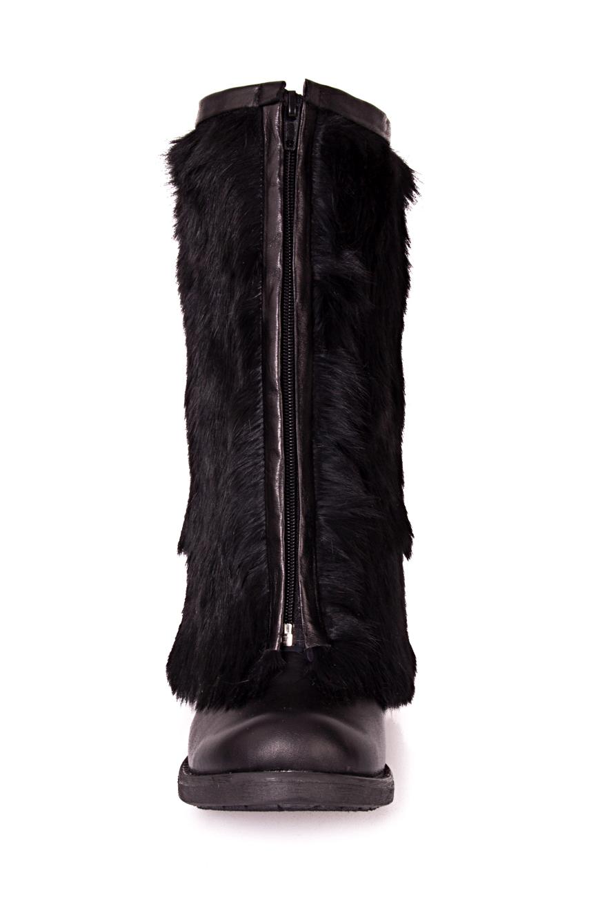 Rabbit fur boots Ana Kaloni image 2