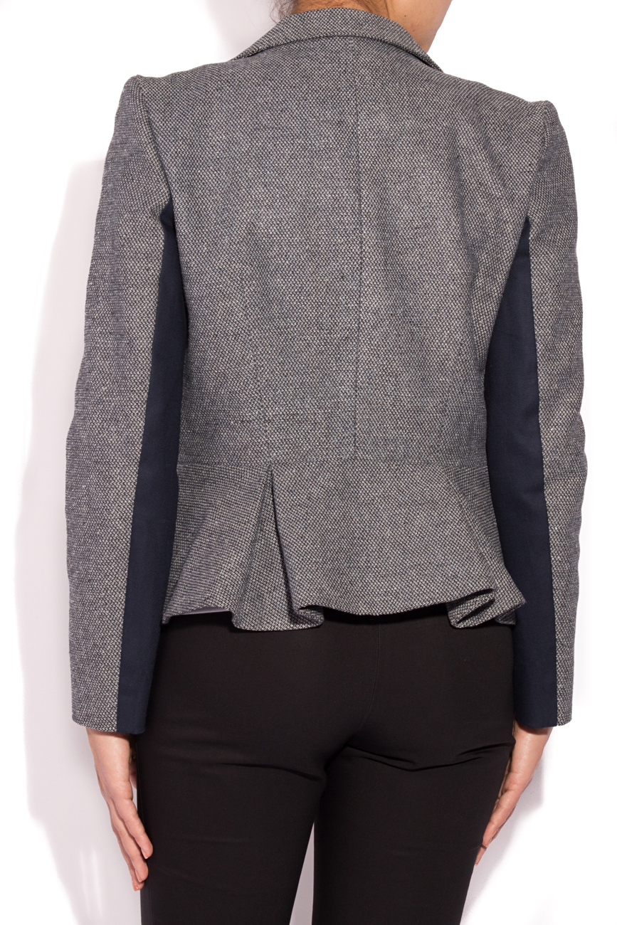 Peplum jacket in blue shades Laura Ciobanu image 2