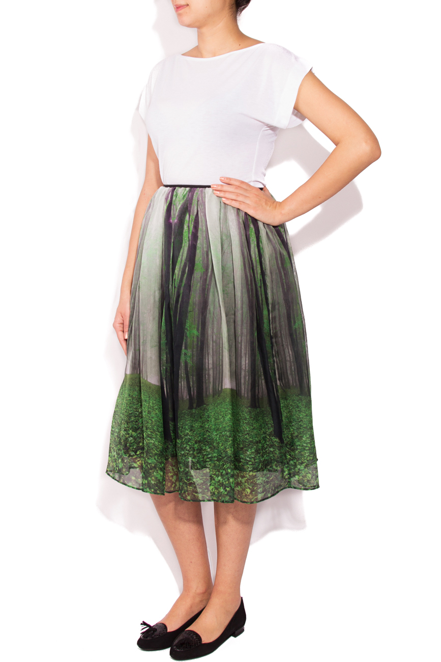 Skirt with forest print Cristina Staicu image 0