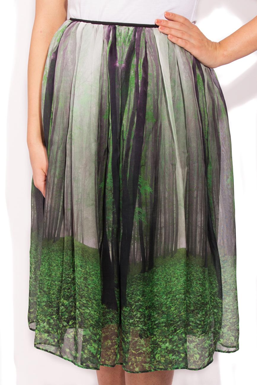Jupe imprimé forêt Cristina Staicu image 1