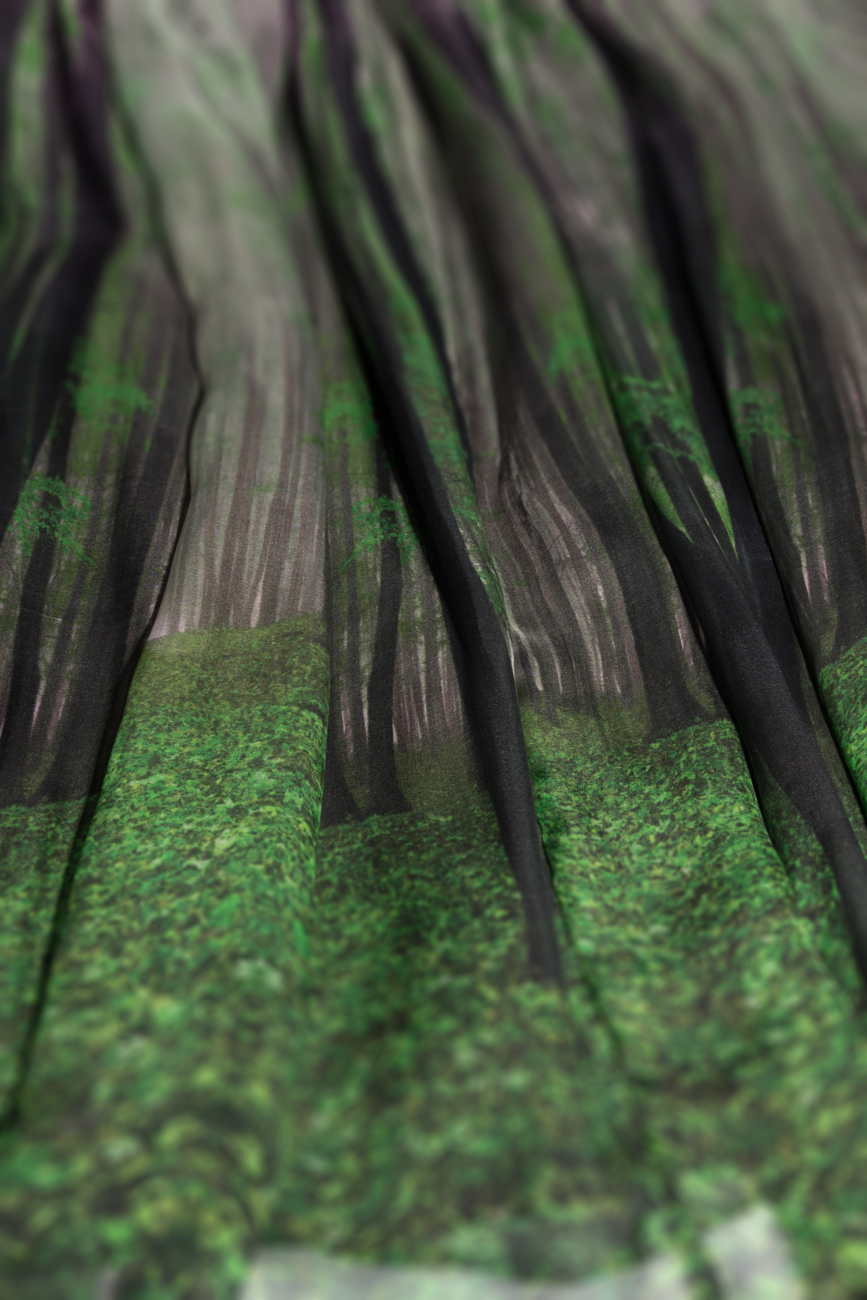 Jupe imprimé forêt Cristina Staicu image 3