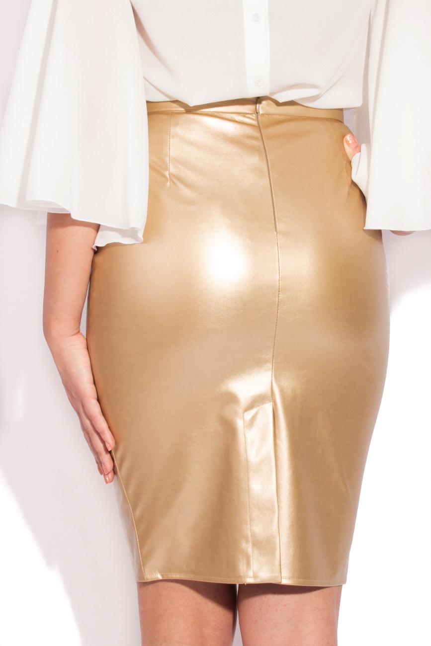 Golden skirt T'esha by Diana Tatucu image 2