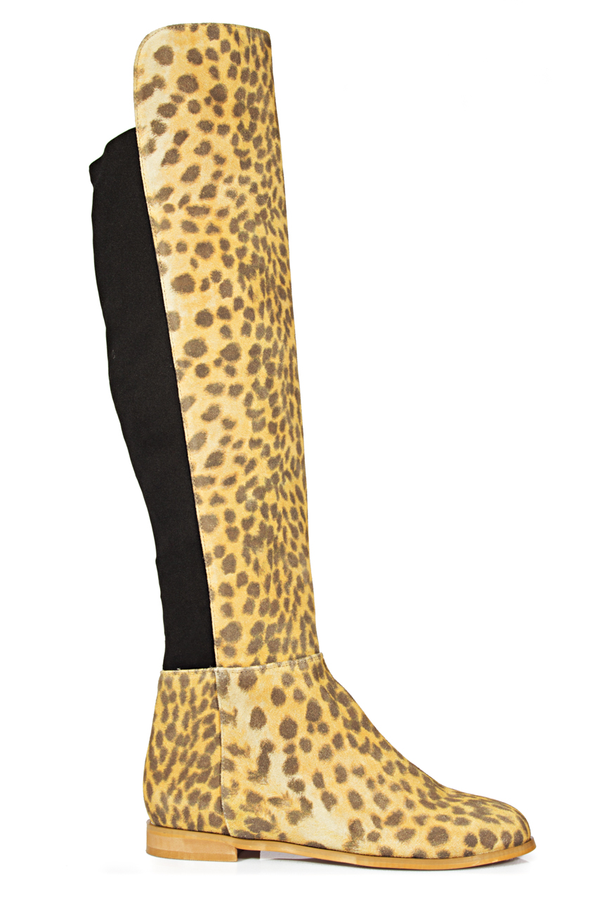 Over-the-knee leopard boots Ana Kaloni image 0